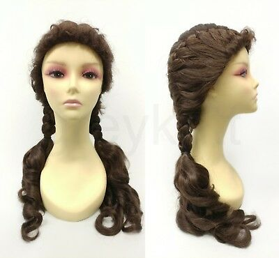 Dorothy Brown Pigtails Wig Wizard Of Oz Costume Cosplay Braided French Braid 22""
