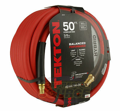 "Tekton 3/8"" x 50' Hybrid Polymer Air Compressor Hose 300 PSI Flexible New"