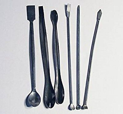 Stainless Steel Lab Spatula Mini Micro Spoon 6 Piece Set 8  Medical Pharmacy New