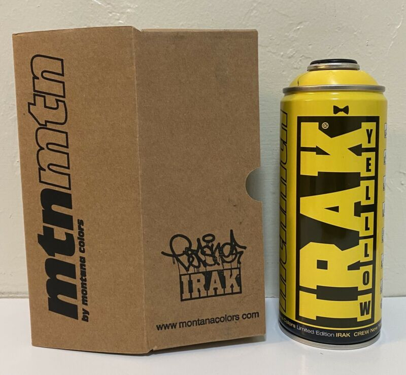 EARSNOT IRAK Limited Edition MTN Montana Spray Paint Can NEW Graffiti