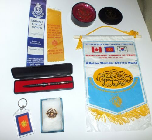 Salvation Army Pen Coasters Pennant Pin Keychain Broach Collection
