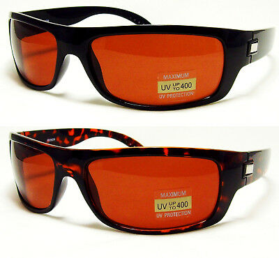 HD High Definition Vision Driving Golf Sunglasses WrapAround Blue Blocker (Golf Lenses)