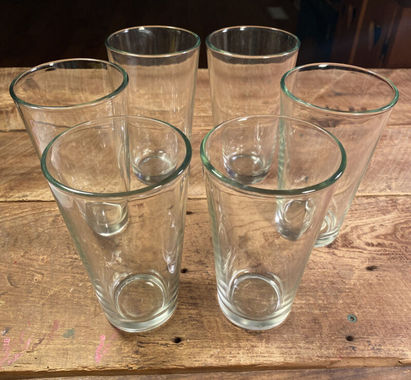 Libbey Drinking Clear Glass Tumblers 16 oz. Set of 6 - New, Out Of Box