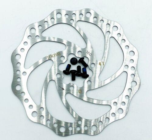 TEKTRO 2Pcs MTB Bike Disc Brake Rotor 160mm Cycling 6 Bolts Bicycle Fit Shimano