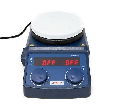 Four Es 5 Inch Led Digital Hotplate Magnetic Stirrer Scientific Lab Mi0102003