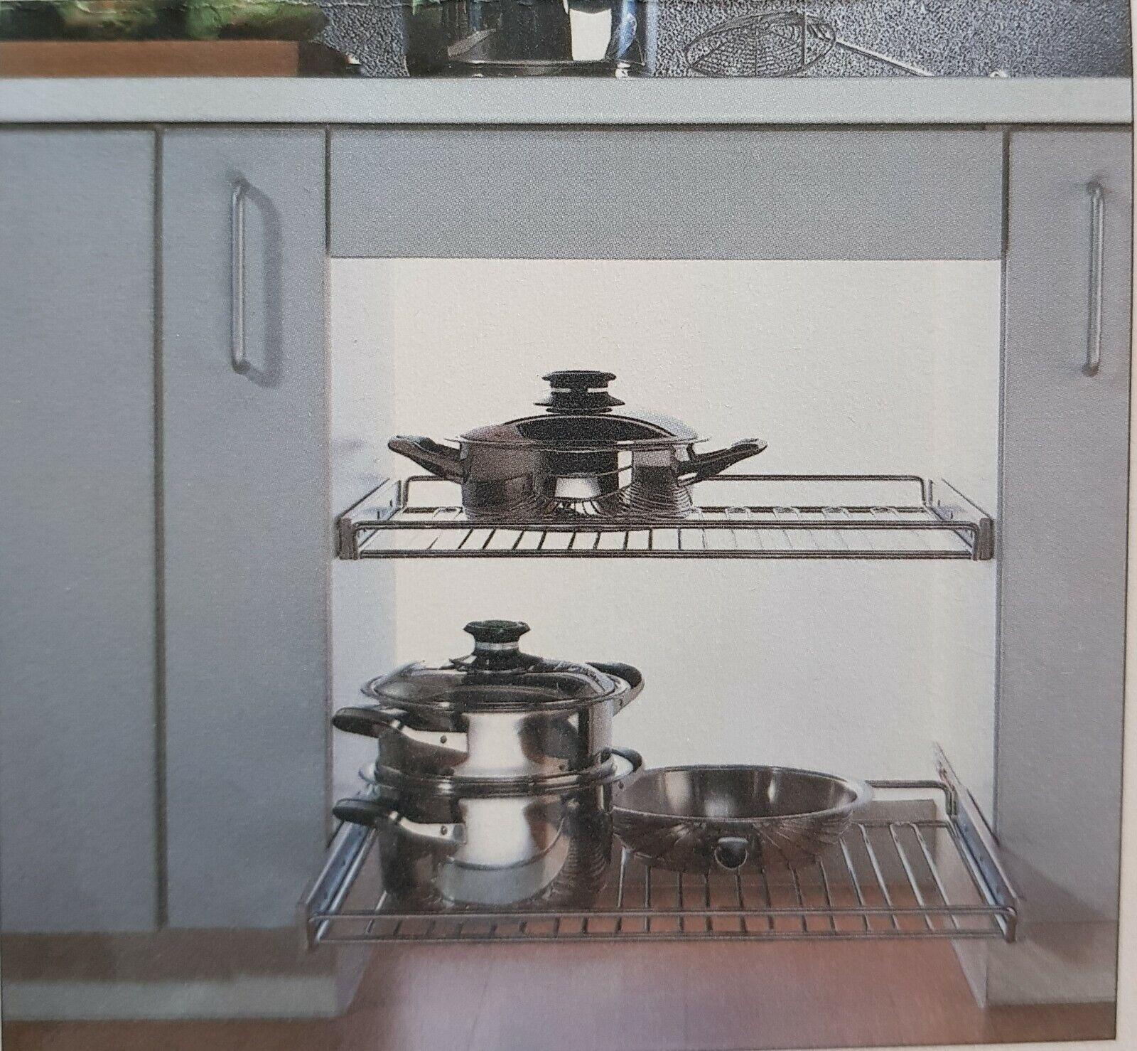 Herdauszugsrost 90er Einbauraster 900 x 533 mm für Unterschränke Küche