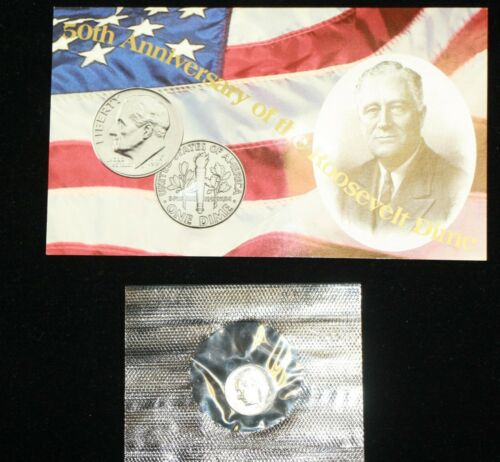 1996 W Roosevelt Dime ~ 50th Anniversary Uncirculated Coin ~ West Point Mint