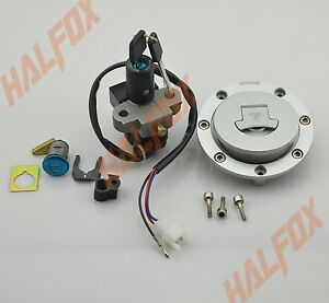 Lockset-Lock-Set-Ignition-Gas-Cap-Tail-Keys-HONDA-CBR600F-F2-F3-1989-1998