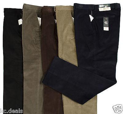 RALPH LAUREN MEN CORDUROY PANTS OLIVE GREEN NAVY BLUE BROWN POLO BLACK MULTISIZE Navy Blue Corduroy Pants