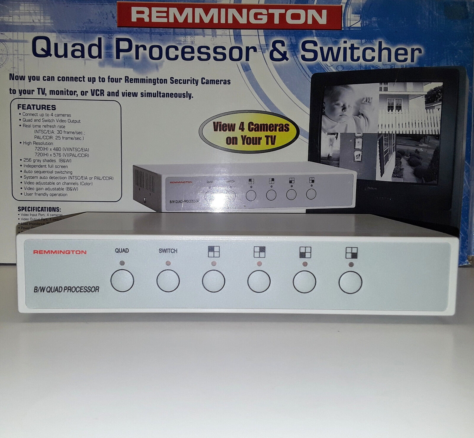 Remmington 00789 Quad Processor & Switcher (BRAND NEW!)