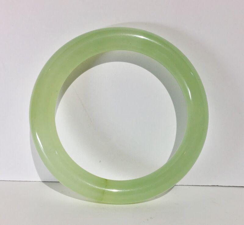 Vintage Translucent Icy Apple Green Jadeite Bangle Bracelet Natural A-Grade Jade