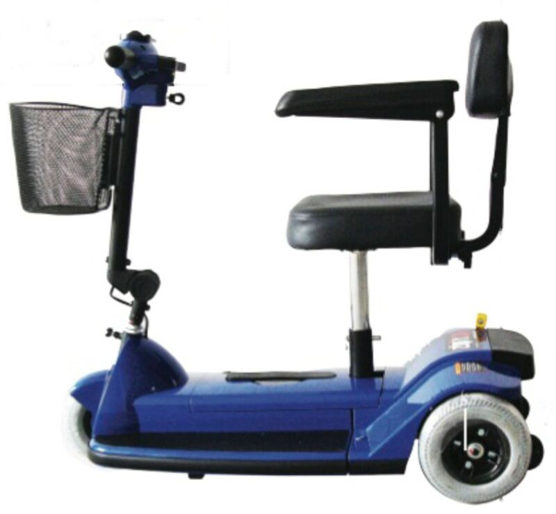 Zipr 3 Wheel Traveler Compact Scooter Lightweight Red Blue Transport Medical