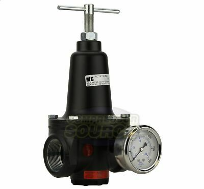 New 1 Inline Compressed Air Compressor Line High Flow Pressure Regulator Valve
