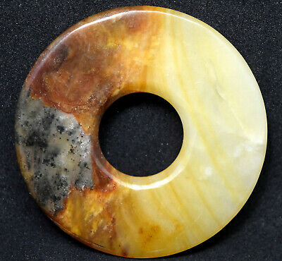 Antique Chinese Natural Jade Coin Disc Plaque/Pendant