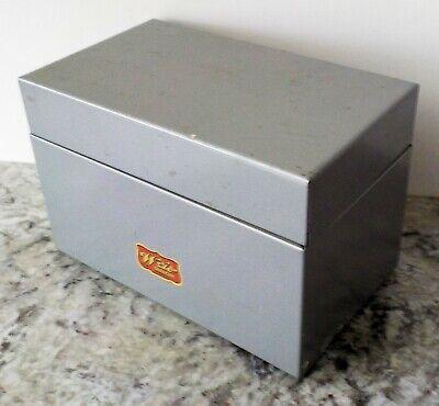 Vintage 1950s Weis Hinged Metal File Box 5.5 X 3.5 X 3.25 Vhtf Vguc