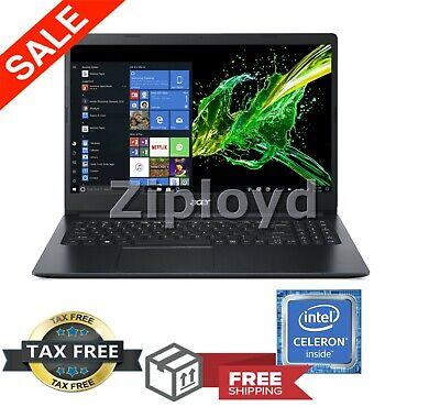 """Acer Aspire 1 15.6"""" HD Intel Celeron N4000 4GB HDMI 64GB Windows 10 PC Laptop"""