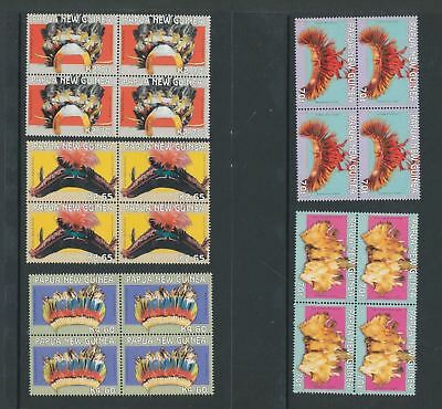 PAPUA NEW GUINEA 2004 HEADDRESS Art 5 Values x 4 MNH (20 Stamps) PAP257