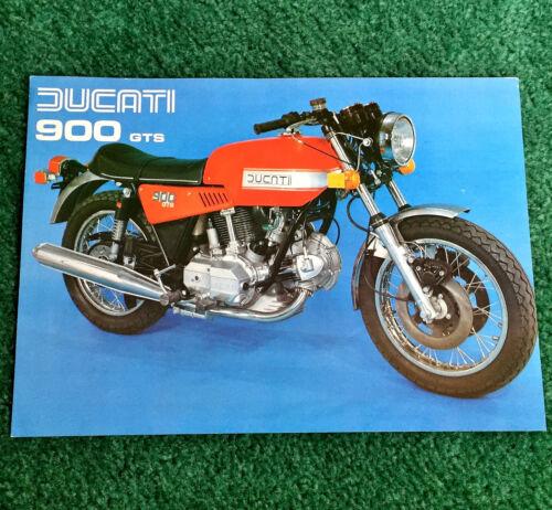 ORIGINAL 1978 DUCATI MOTORCYCLE SALES LEAFLET 900 GTS 900GTS BROCHURE CAFE