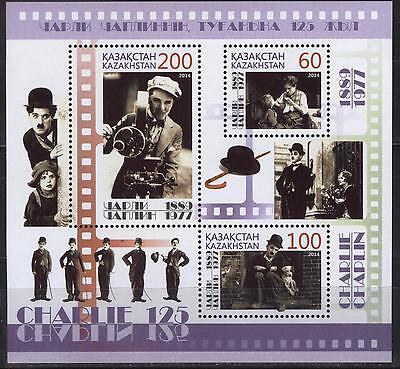 2015. Kazakhstan. The 125th anniv. of the birth of C. Chaplin. Sc.744. S/sh. MNH