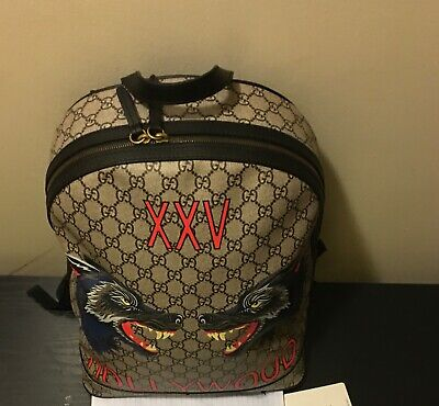 GUCCI GG Hollywood Wolf Print Supreme Backpack preowned
