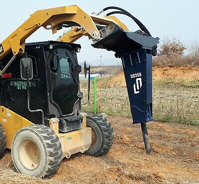Hydraulic Hammer Skid Steer Loader Breaker Attachment Mini Excavator 2.5 To 5ton