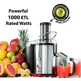 Gourmia GJ1250 Stainless Steel Wide Mouth Juice Extractor & Maker Powerful 1000W