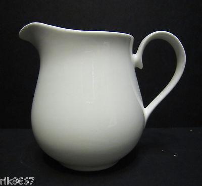 ½ pint Cream Jug In Bulbous Shape White English Fine Bone China By Milton China China Cream Jug