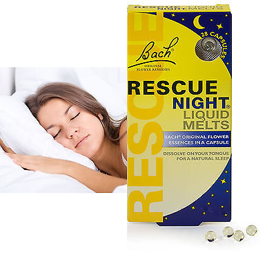 Bach Rescue Night Pearls Remedy Liquid Melts Pills Aid Capsule 28 Pack Exp 12/18