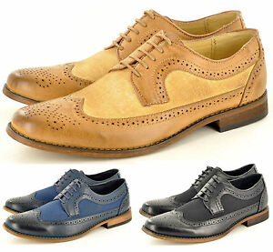 homme lacets d contract habill designer brogue chaussures mode en tailles uk ebay. Black Bedroom Furniture Sets. Home Design Ideas