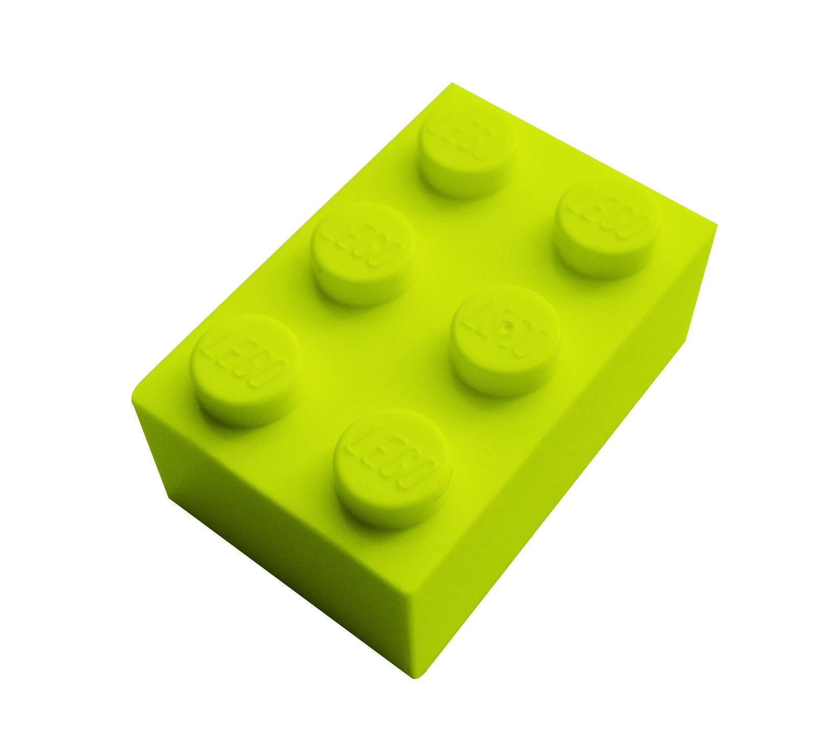 Neu Steine in limette Basics City 3004 Lego 100 lime grüne Basic Steine 1x2