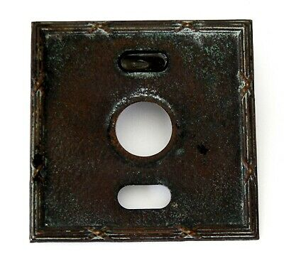 Antique Vintage Single Light Switch Toggle Cover Plate Metal #C