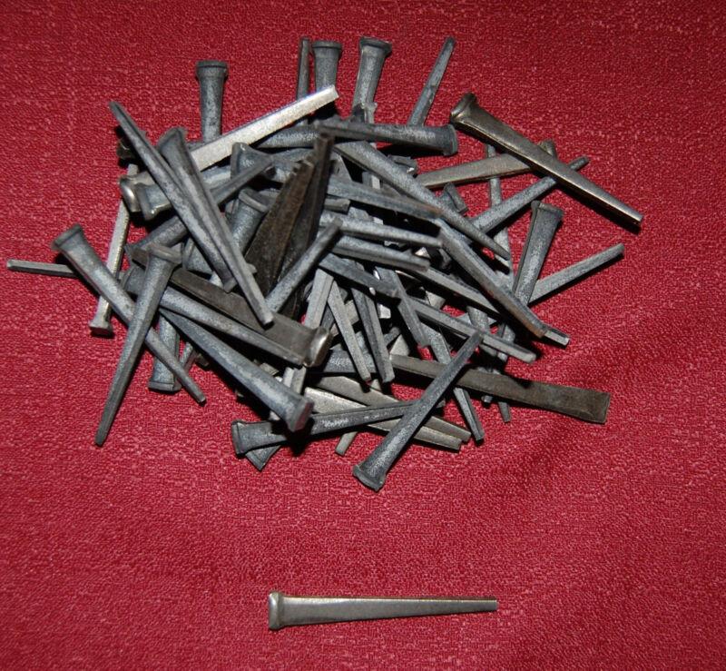 """1 lb Vintage Antique Steel Cut Square TREMONT Nails for Reproduction 3"""" 7.62 cm"""