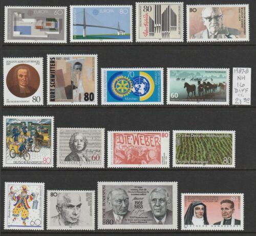 Germany 1987-8 NH 16 diff Commemorative 2018 cv 21.30 Lot CC