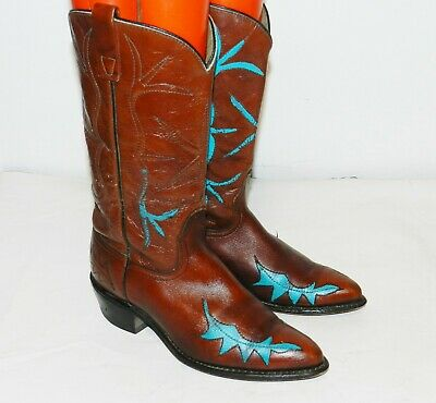 Vintage ACME Brown Leather  Cowboy Western Boots Women's Size 7
