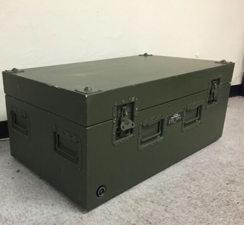 "Aluminum Storage Case with Breather Valve Military 37"" x 19"" x 15"" Lockable"