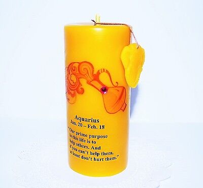 100% pure beeswax zodiac quote candle decorative unique gift custom made - Custom Candles