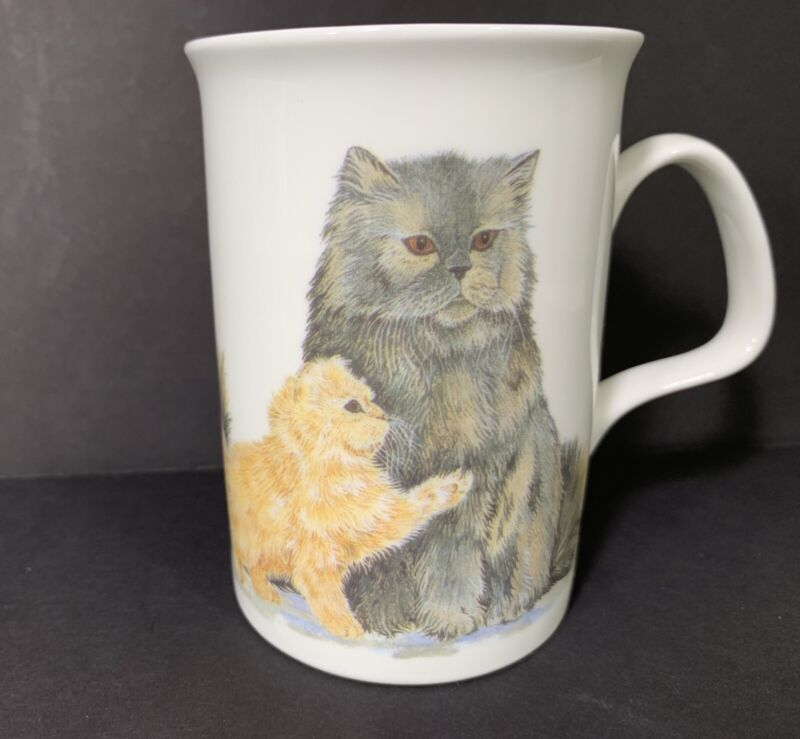 Roy Kirkham Cat Lovers Coffee Cup Bone China England Persian