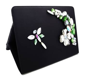 BRAND NEW smart tablet device iPad case cover Swarovski crystals