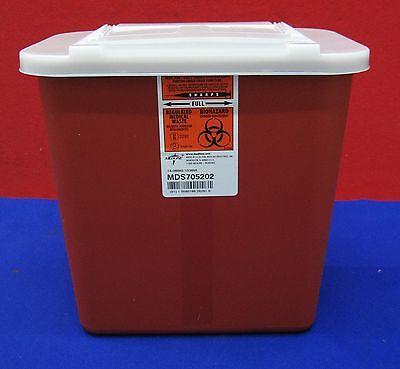 Kendall Tyco Medline Sharps Disposal System Mds705202 Regulated Medical Waste