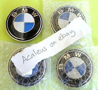 BMW 4x 68mm wheel Centre Cap Badges E34 E36 1 3 5 7 Series