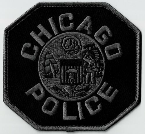 CHICAGO POLICE - BLACK SHOULDER - SEW-ON PATCH