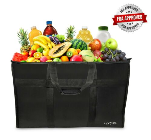 Extra Large Insulated Thermal Food Delivery Bag | Ideal for Groceries