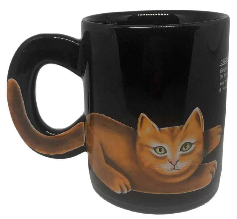 Ginger Cat Coffee Mug Artist Martin Leman