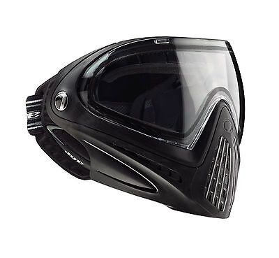 Dye Invision I4 Black Paintball Goggle System Mask Thermal Clear Lens -