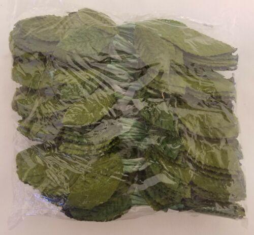 144 pcs Vintage Millinery Green Velvet Leaf Leaves for Hats Crafts Made in Korea