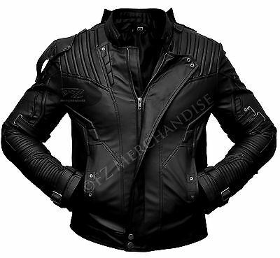 Guardians Of The Galaxy 2 Star Lord Chris Pratt Black Leather Jacket