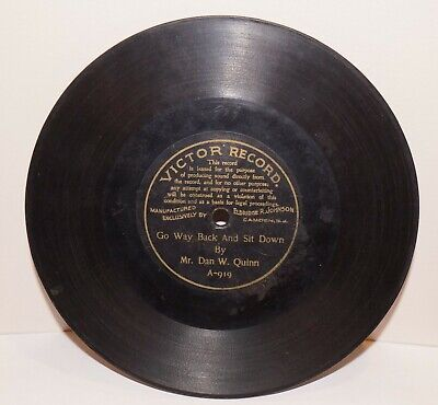 """RARE Antique 7"""" 1st VICTOR RECORD A-919 Phonograph Gramophone 1901"""