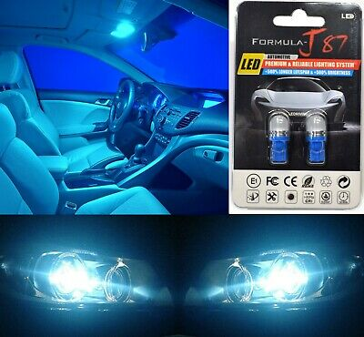 LED 5050 Light Icy Blue 8000K 194 Two Bulb License Plate Replace Upgrade SMD JDM
