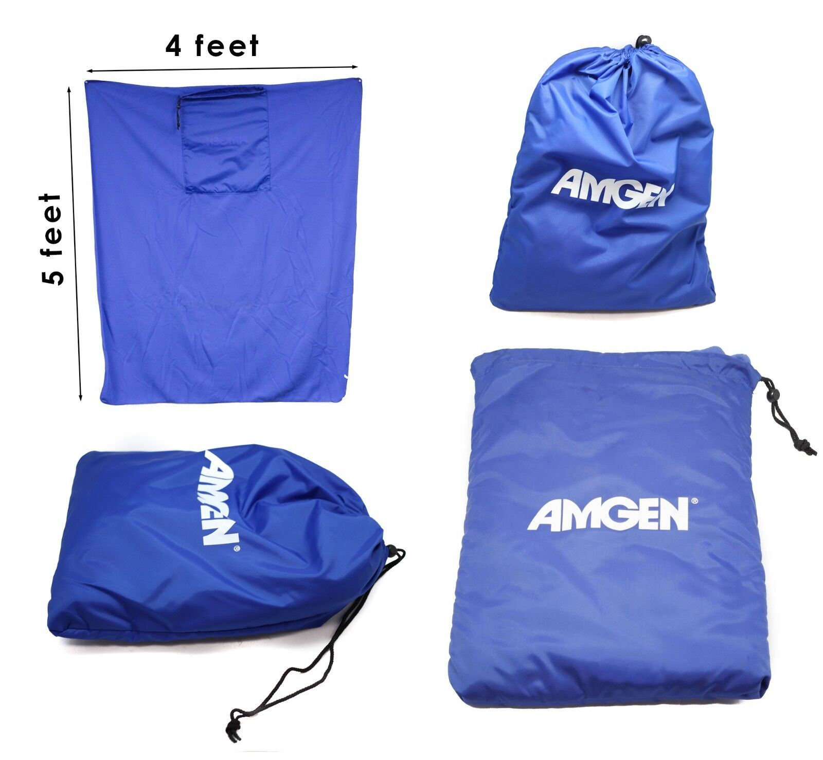 Amgen Picnic Blanket Fleece 5x4'100% Polyester Feels Warm Co
