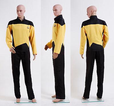 Star Trek TNG The Next Generation Uniform Set Costume Yellow Cosplay Halloween (Star Trek Tng Halloween Costumes)